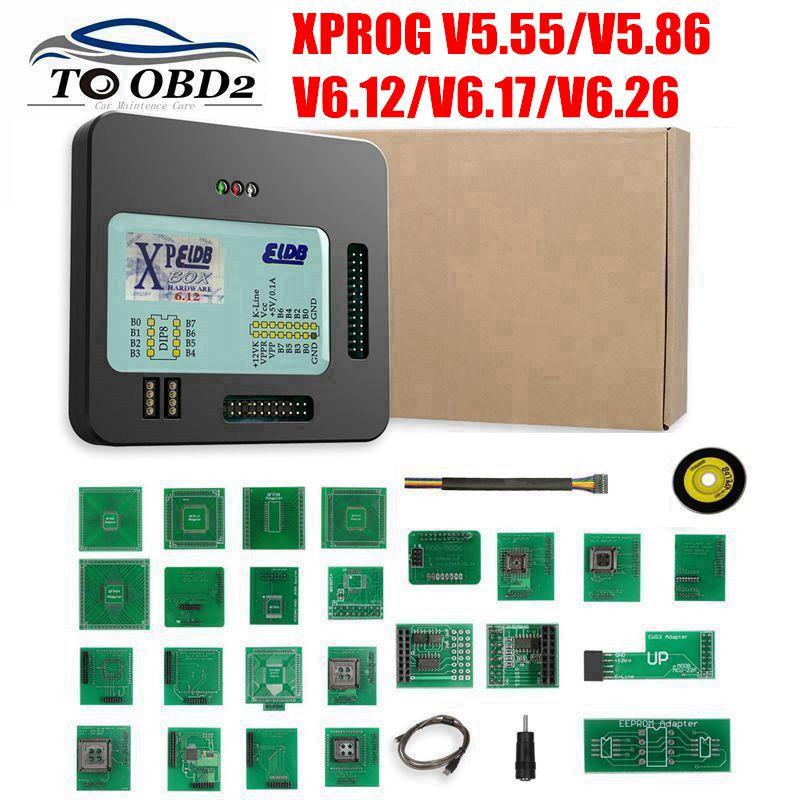 New XProg-M Xprog m V5 55 V5 86 V6 12 V6 17 V6 26 ECU Chip Tunning Programmer X Prog M Box 6 26 XPROG-M 5 55 Without USB Dongle