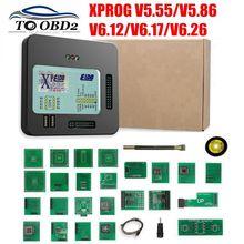 New XProg M Xprog m V5.55 V5.86 V6.12 V6.17 V6.26 ECU Chip Tunning Programmer X Prog M Box 6.26 XPROG M 5.55 Without USB Dongle