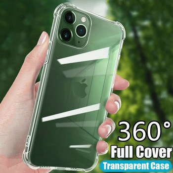 Shockproof Silicone Phone Case For iPhone 11 12 Pro Xs MAX XR X 10 Transparent Soft Cover For iPhone 7 8 6 6S PIus 5 5S SE Cases image