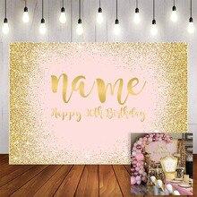 Mehofond 사진 배경 핑크 반짝이 황금 모래 여자 여자 골드 생일 파티 장식 배경 사진 스튜디오