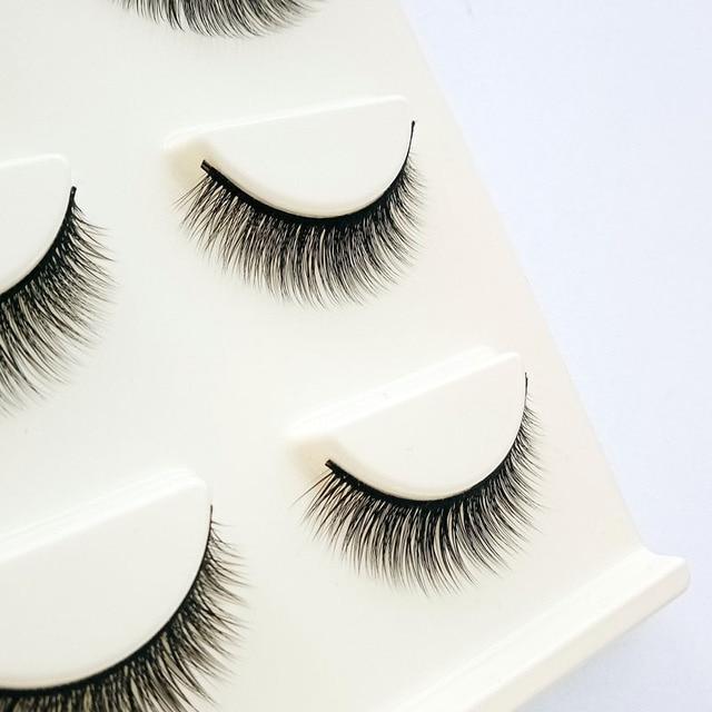 Big Eye Makeup Cross Volumn False Eyelashes Soft Natural False Eyelashes 3D Mink Thick Lashes Handmade Eyemakeup Extension Tools 4
