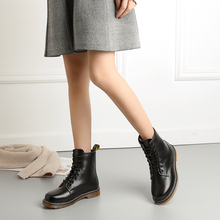 2019 Boots Women Genuine Leather Shoes Winter Keep Warm Female Mid-calf Boots Short Plush Non-slip and Wearproof Botas Mujer universe mid calf winter boots women shoes with warm short plush lining genuine leather med heel boots g382