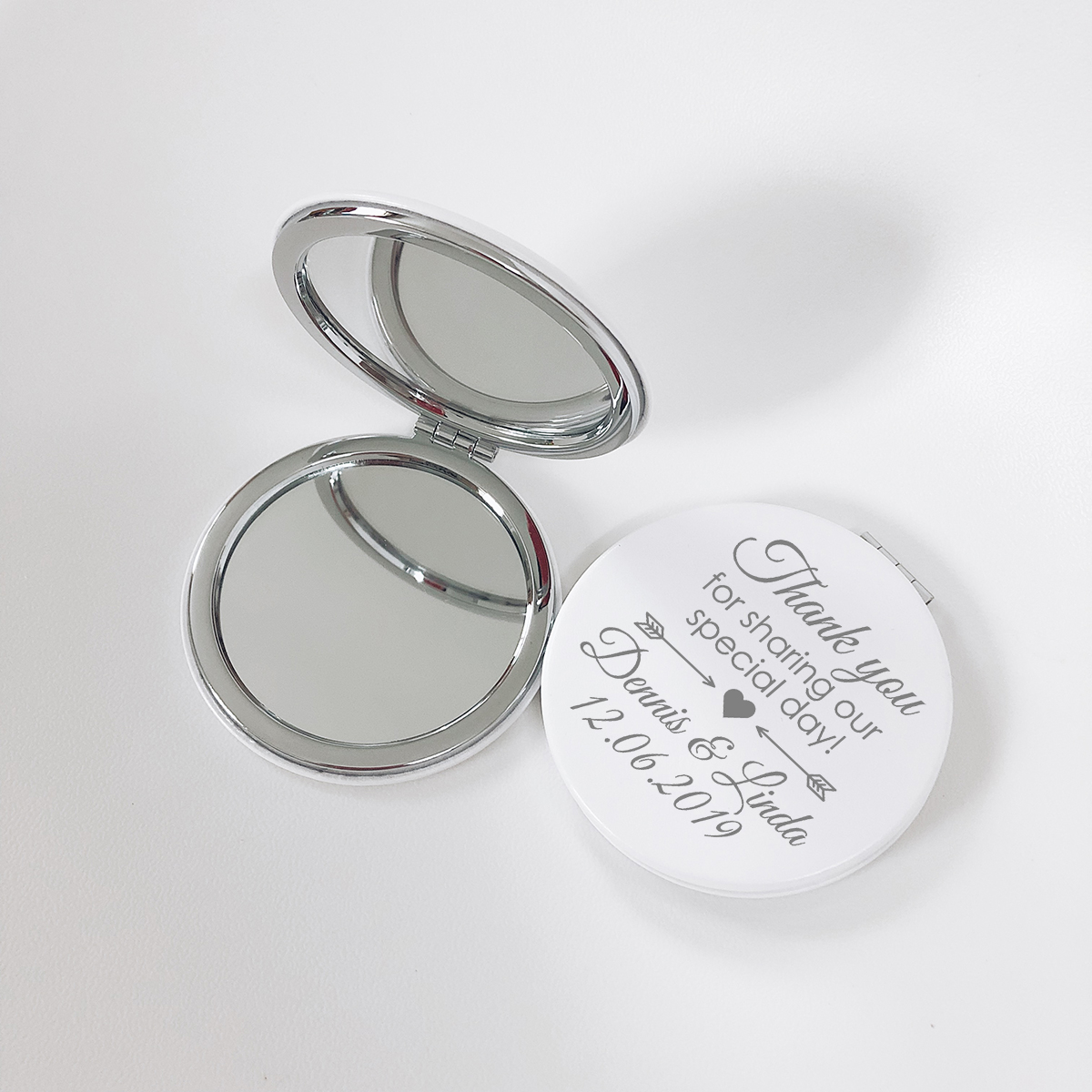 Custom Engraved Personalized White Leather Makeup Mirror Wedding Gift Party Favor Pocket Mirror Small Compact Mirror For Purse Party Favors Aliexpress