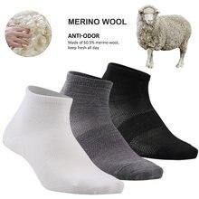 ZEALWOOD Unisex No Show Athletic Socks, Merino Wool Ultra-Light Running Tennis Golf Socks 3 Pairs