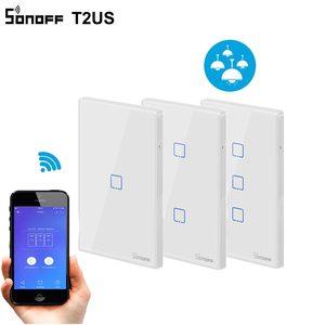 Image 5 - Sonoff T1 abd akıllı Wifi duvar ışık anahtarı 1 2 3 Gang dokunmatik/WiFi/315 RF/APP uzaktan akıllı ev duvar dokunmatik anahtarı Alexa ile çalışır