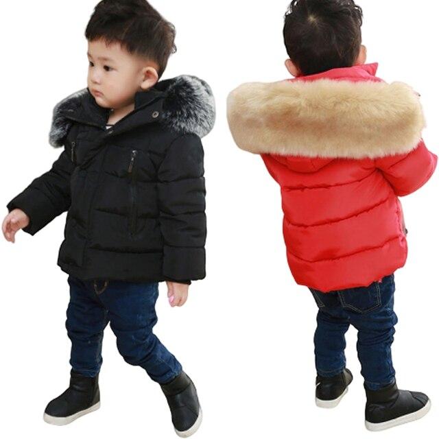 春キッズボーイズ & ガールズダウンコート冬ジャケット暖かい子供厚みプラス入りのジャケットフード付き上着衣装