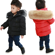 Spring Kids Boys & Girls Down Coat Winter Jackets Warm Coat Children Thicken Plus Velvet Padded Jacket Hooded Outerwear Costume