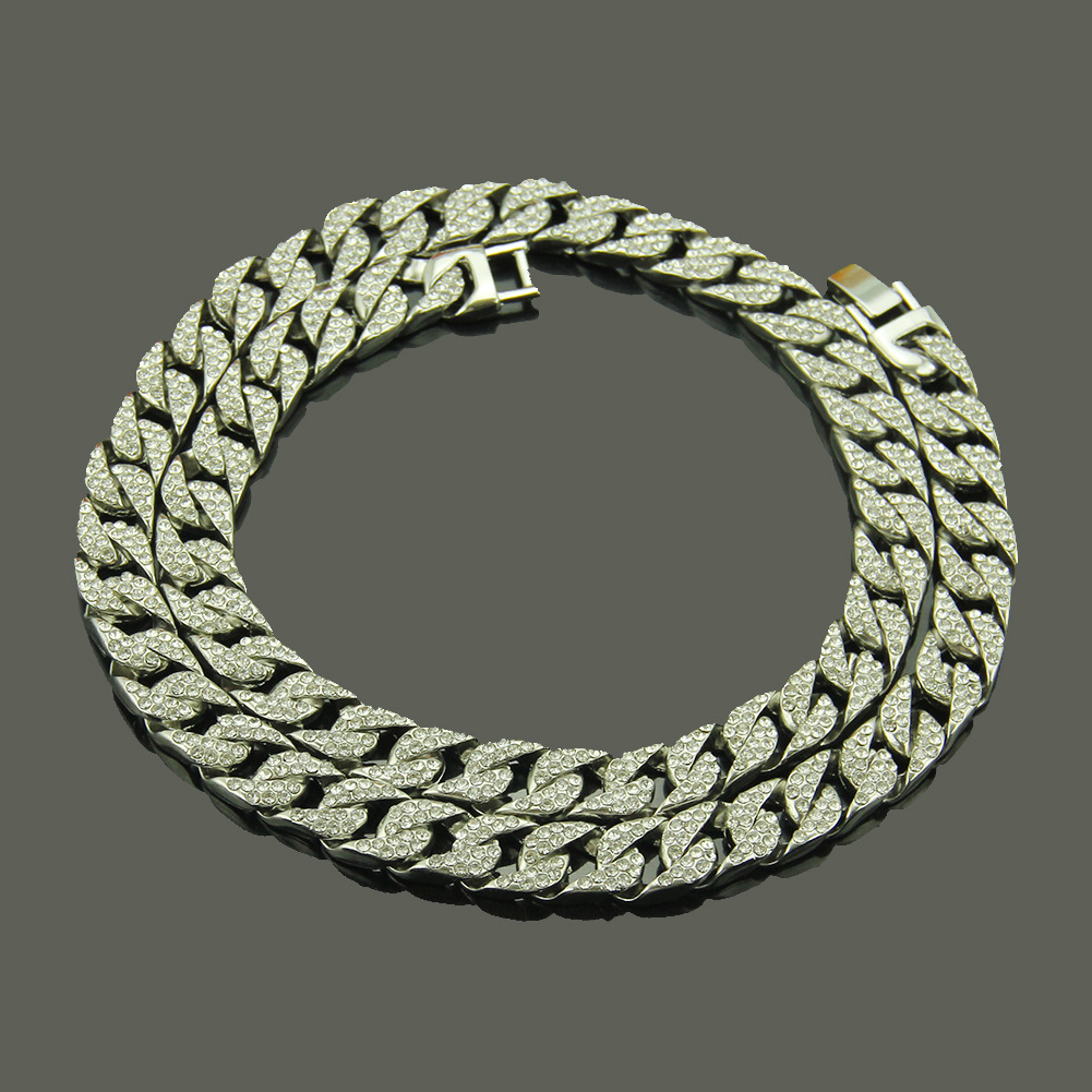 Hot Sales Hot Selling Men Hip Hop Diamond Set Chain Necklace Europe And America Fashion Necklace