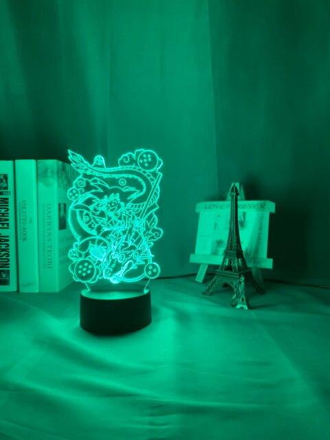 Japanse animatie draken 3D Led Lamp/Nachtlamp 4