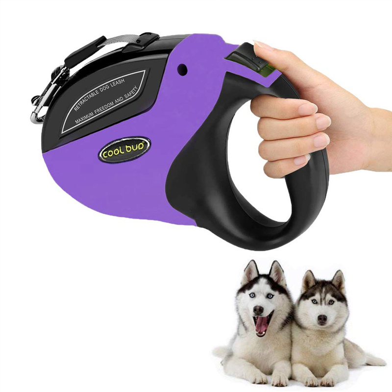 Retractable Dog Leash Anti-Slip Pet Walking Jogging Training Leash For Small Medium Large Dogs Up To 110lbs Roulette For Dogs
