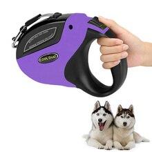 Wysuwana smycz antypoślizgowa Pet Walking Jogging smycz treningowa dla małych średnich duże psy do 110lbs ruletka dla psów