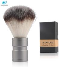 HAWARD Men's Shaving Brush Synthetic Hair Shaving Brush Metal Handle Beard Brush For Men's Face Cleansing Safety Razor Brush