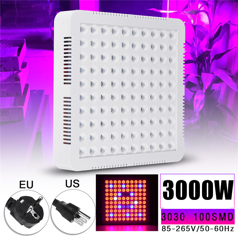 3000W LED Grow Lights Lamp Panel Hydroponic Plant Growing Full Spectrum For Veg Flower Indoor Plant Seeds AC85-265V