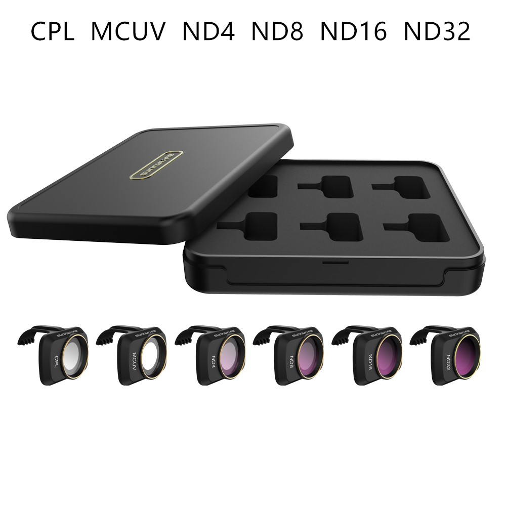 Mini câmera multi-camada de vidro óptico de revestimento rc drone lente filtro conjunto nd cpl ndpl mcuv kits para mavic mini avião r60