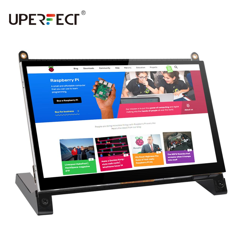 UPERFECT Portable Monitor Raspberry Pi touch screen 7-inch 1024X600 with dual speakers portable capacitive IPS display with HDMI 1
