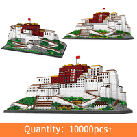 10000pcs+ China Tibet architecture Potala Palace model building blocks micro particles educational toys for children