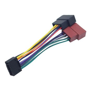 Wire Harness Adaptor for Kenwood Car Stereo Radio ISO Connector 16Pin Plug Cable E7CA dewtreetali car vehicles radio stereo iso to din aerial antenna mast adaptor connector plug car stying accessories