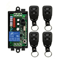 Wireless Remote Control Light Switch 10A Relay Output Radio AC 220 V 1CH 1 CH Receiver Module + Belt buckle Transmitter