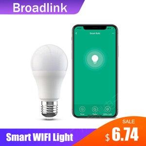 Image 1 - Yeni BroadLink akıllı ışık BestCon LB1 sönük LED ampul ışığı ile ses kontrolü Google ev ve Alexa