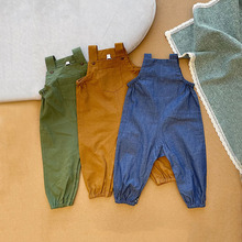 Baby Pants Overalls Suspender-Trousers Girl Toddler Kids Summer Casual Solid 3M-2T Outwear