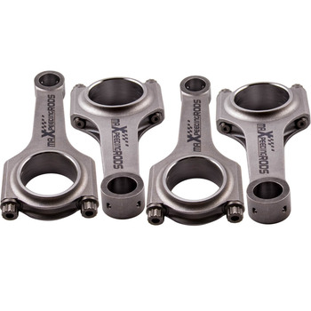 4x Connecting Rods Rod for BMW S1000RR K46 Conrods Bielle 103mm 800HP 4340 Crankshaft Piston Pin Genuine 3/8 ARP 2000 bolts image