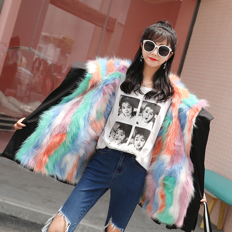 Natural Raccoon Fur Coat Women Winter Long Parkas Super Warm Real Fur Coats Female Duck Down Jacket Outwear LX2338