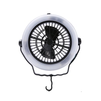 Tent Fan Light Led Camping Hiking Gear Equipment Usb Powered Outdoor Portable Ceiling Lamp Camping Equipment|Tent Accessories| |  -