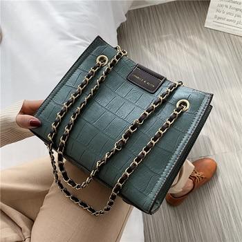 Women Bag Vintage Retro Chain Totes Shoulder Crossbody Bags 2020 New Fashion Handbags Ladies Messenger Female Pursess