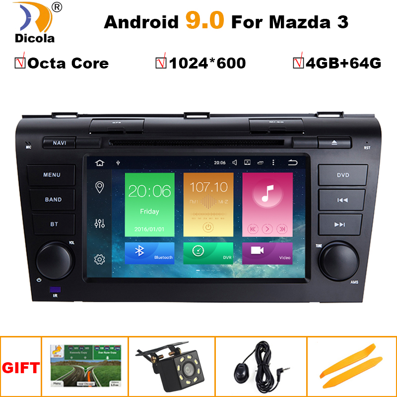 4G+64G PX5 Android 9 Car Radio For <font><b>Mazda</b></font> <font><b>3</b></font> 2004-2009 maxx axel Wifi Auto Stereo car dvd gps Navigation stereo <font><b>Multimedia</b></font> Player image