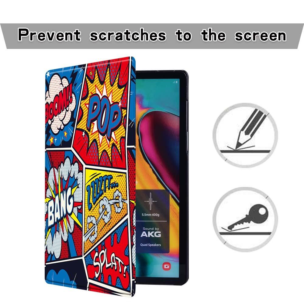 Чехол для планшета Samsung Galaxy Tab s6/Tab A A6 7 10 / Tab E S5E граффити искусство Кожаная подставка складной противоударный защитный чехол-1
