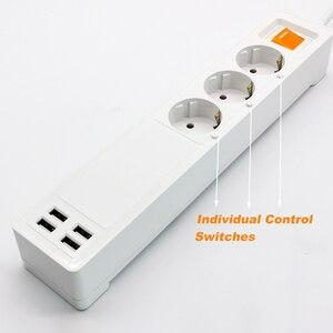 Image 4 - 電源ストリップ無線lanスマートプラグhomekit 3 euソケットサージ保護リモートコントロールコンセント2メートル延長コードの独立したスイッチ