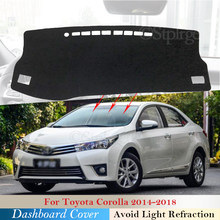 Защитная накладка на приборную панель для Toyota Corolla E170 E160 2014 2015 2016 2017 2018 автомобильные аксессуары