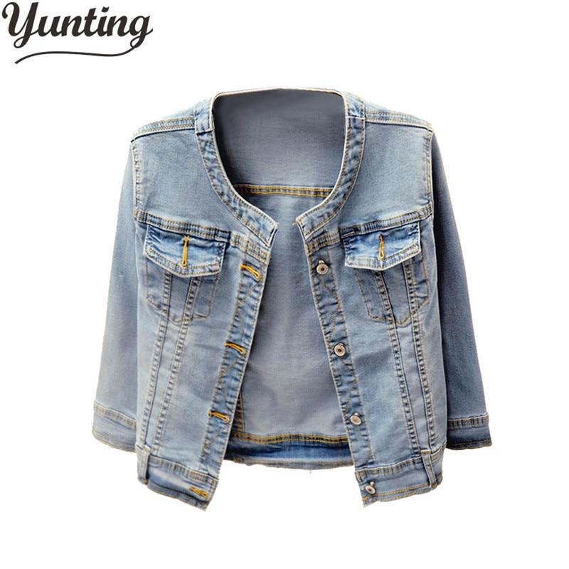 Women Denim Jacket Coat Jean Casual Female Basic Coat Slim Windbreaker Pockets Vintage Autumn Slim Lady Outwear