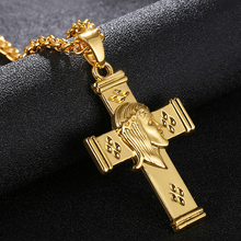 Christian Cross Necklace Jesus Christ Pendant Rosary Mens Womens Unisex JewelryReligion