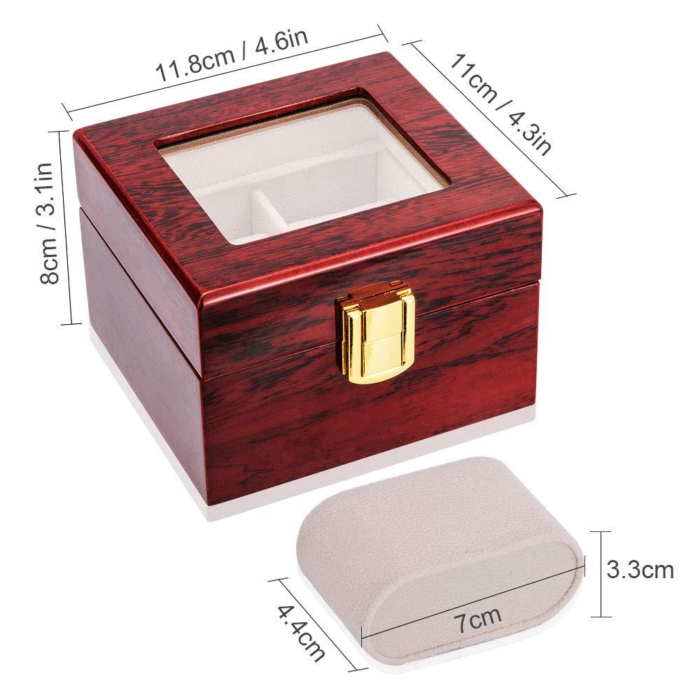 caixa de relógio de madeira caso de