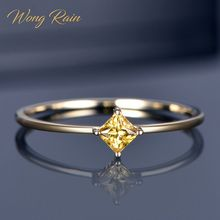 Wong Rain Classic 925 Sterling Silver Citrine Gemstone Wedding Engagement Yellow Gold Ring Wedding Bands Fine Jewelry Wholesale cheap GDTC Women 925 Sterling Prong Setting Other Natrual material JZ320 geometric