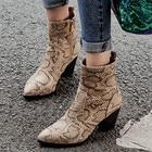 Snakeskin Ankle Boot...