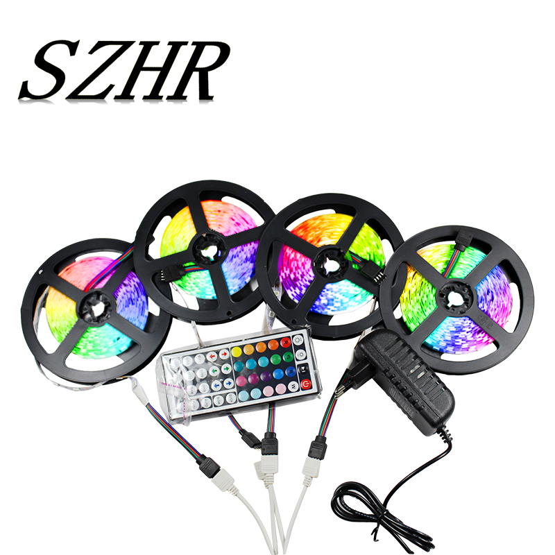 SMD2835 5050 RGB LED Light Strip Waterproof Flexibility 12v 5m 10m With Controller Adapter Diode Tape Ribbon Decorative Lights