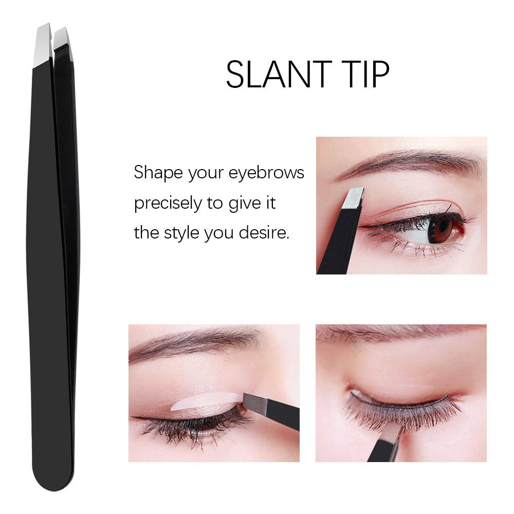 5Pcs Tweezers Eyebrow Tweezer Set Stainless Professional Eye Lashes Extension Tweezers Eyebrow Tongs Scissors Cosmetic Tools