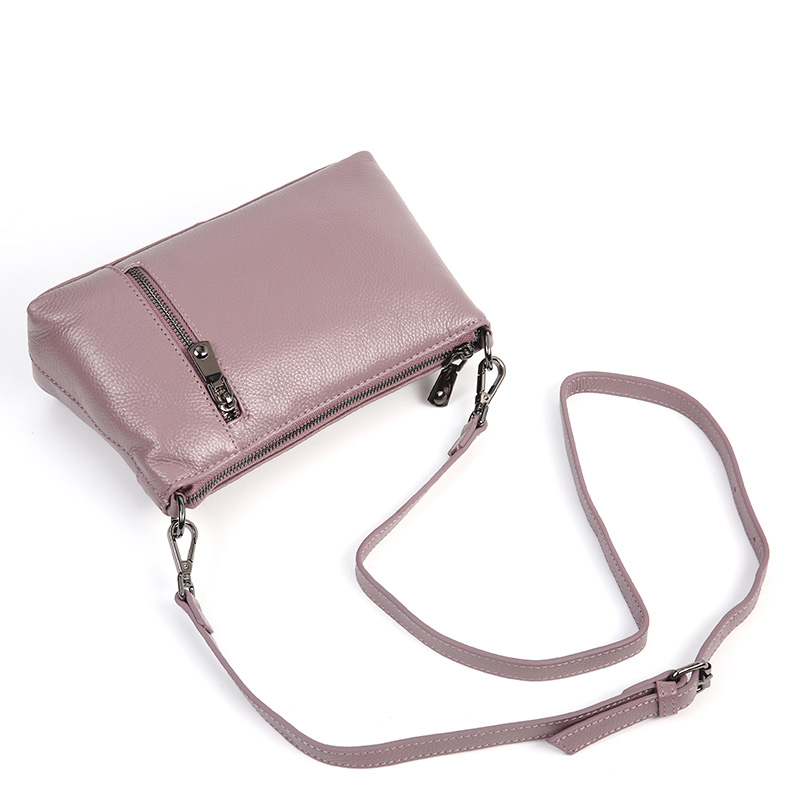 Aodux 2019 NEW Small Summer 100% Genuine Leather Cowhide Women Long Strap Shoulder Bags Female Handbag Lady Messenger Bag Purse - 4