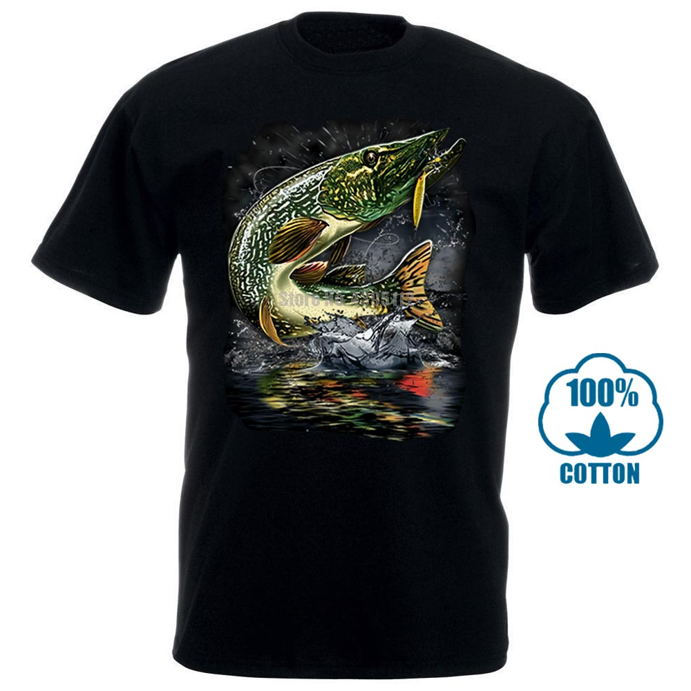 Classic Tops Tee Shirts Pike Northern Pike Blue Pike Jumping Pike Fly Fisher Men'S T Shirt Nofo Clothing Co 032044