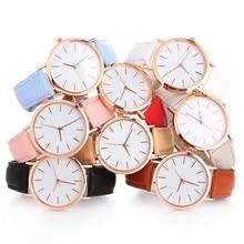 Reloj de pulsera Simple para mujer, reloj de pulsera de cuarzo redondo, analógico, de lujo, de aleación, para mujer, reloj de pulsera