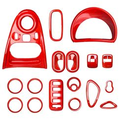 Wysokiej jakości kolor czerwony dekoracja do wnętrza samochodu podłokietnik mata do Mercedes smart 453 fortwo forfour odlewnictwo samochodu