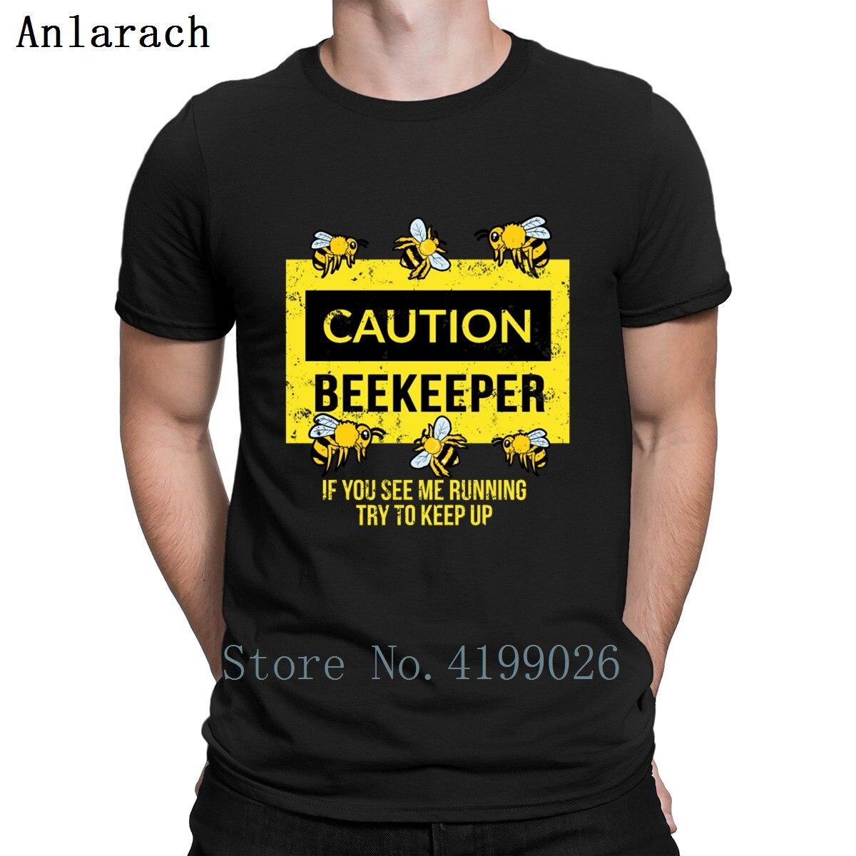 Caution Beekeeper Bee Beekeeping Honey Gift Idea T Shirt O-Neck Stylish Normal Mens T-Shirt Spring 2019 Designer Men Tops Famous