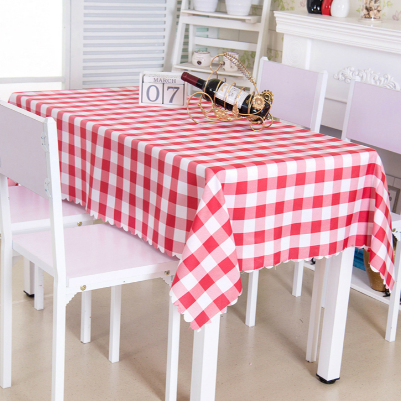 Solid Color Plaid Tablecloth Wave Edge Simple Geometric Table Cover Rectangular Modern Universal Home Coffee Dining Table Cloth in Tablecloths from Home Garden