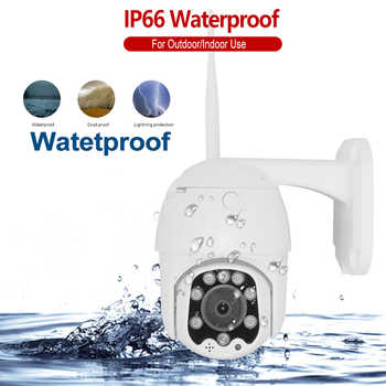 Wireless WIFI 5MP Speed Dome PTZ Camera 5X ZOOM 1080P Outdoor Super MINI IP Camera IR 50m 2-Way Audio Full Color SD P2P ONVIF
