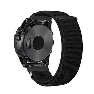 Нейлоновый ремешок для часов 20, 22, 26 мм, легкий и быстрый ремешок для Garmin Fenix 3, 3HR, Fenix 5X Plus, 6X, подходит для MK1, Fenix 5 Plus, 6, 6, 6S, ремешок для часов