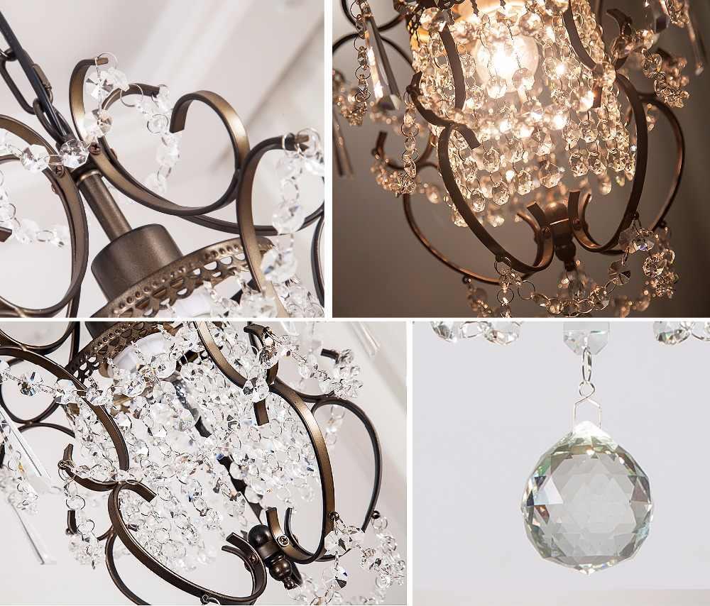 Moderne Kristall Kronleuchter Kleine Kronleuchter Decke Lichter Leuchte für Wohnzimmer Schlafzimmer Restaurant