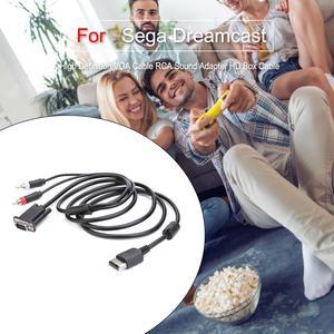 Image 5 - Kabel VGA o wysokiej rozdzielczości Adapter dźwięku RCA kabel HD Box dla Sega Dreamcast kabel VGA dla SEGA Dreamcast DC wysoka jakość