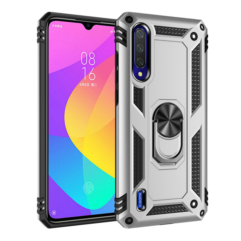 For Xiaomi Mi A 3 Case Xiaomi Mi A3 Case Metal Ring Car Phone Holder Luxury Shell for FundaXiaomi MiA 3 Case MiA3 3A Back Cover(China)
